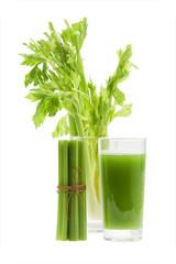 Celery juice with stalk