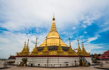 The golden pagoda in Myanmar
