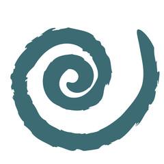 Printed kitchen splashbacks Spiral Spirale petrolio
