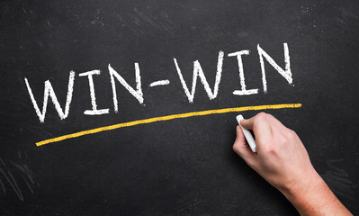 win-win on a blackboard