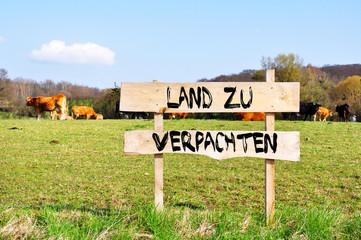 Fototapete - land zu verkaufen