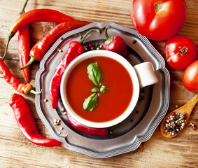 Tomatoes and Peppers Sauce with Basil