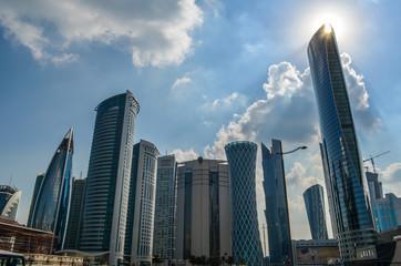 Skyline of Doha Qatar