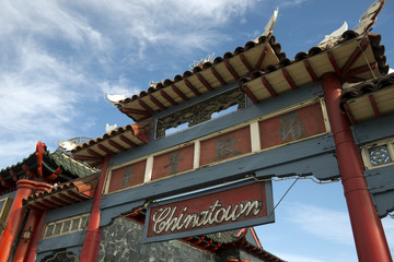 Gate to Chinatown in Los Angeles, California, USA
