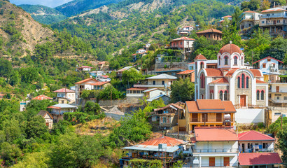 Keuken foto achterwand Cyprus panoramic view of the village Moutoullas. Nicosia district. Cypr