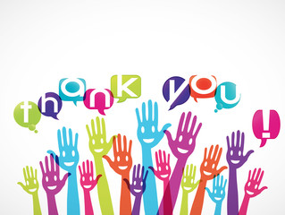 groupe mains souriantes : thank you