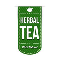 Herbal tea banner design
