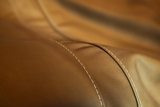 luxury leather cushion detail  - upholstery