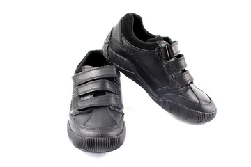 Boys new school shoes. Black trainers