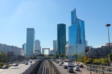 The Avenue Charles de Gaulle and La Defense