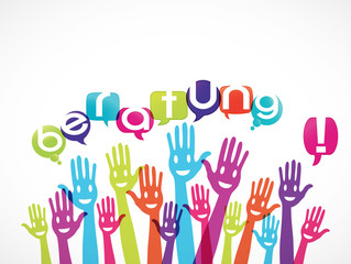 groupe mains souriantes : beratung