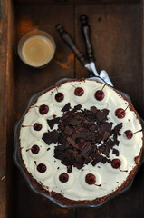 Black forest cake from above