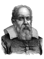 Bearded Man : Galileo Galilei - 17th century