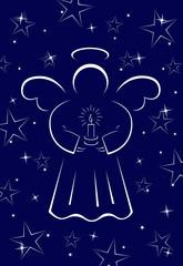 angelo di natale blu