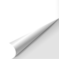 blank sheet of paper with page curl