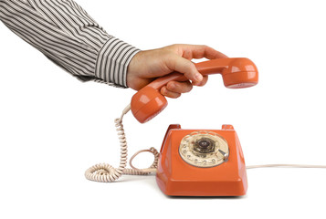 Vintage telephone answer handset