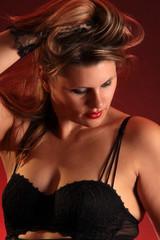 Schöne Frau Unterwäsche schwarz