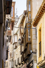 streets and squares of the medieval city of Toledo, Spain