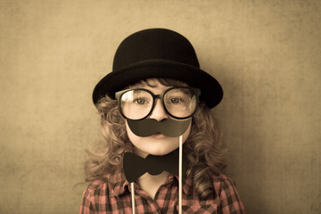 Funny hipster kid