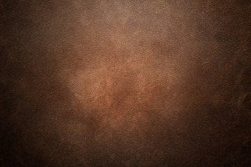 Old brown leather background Wall mural