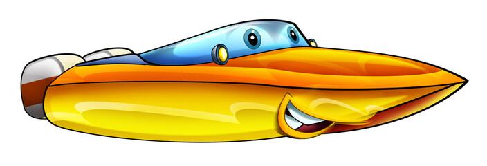 Cartoon motor boat - illustration for the children