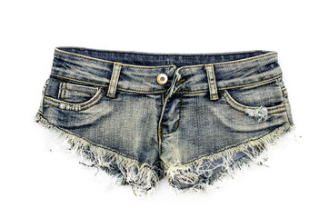 Denim jean short shorts