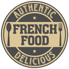 french food label