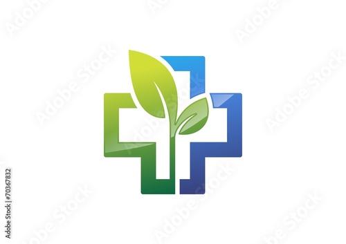 quotmedicine pharmacylogohealthiconcrossplantsplus