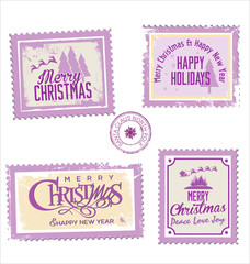 Christmas post stamp collection