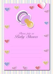 Baby shower card - girl