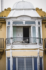 balcony, tipical architecture of the Spanish city of Valencia