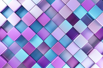Blue and purple blocks abstract background