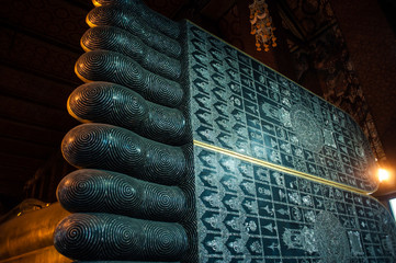 The toes of a giant Buddha