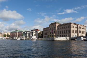 Вид на Стокгольм с воды. Швеция.