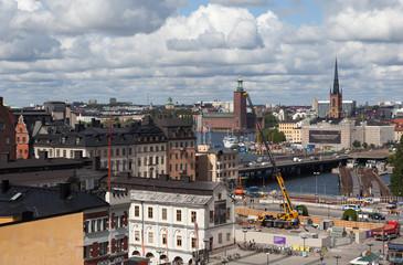 Вид на Стокгольм со смотровой площадки Катарина Хисс. Швеция