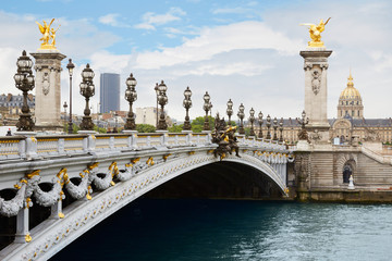 Alexandre III bridge in Paris in the morning, France Fototapete