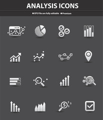 Analysis icons,vector