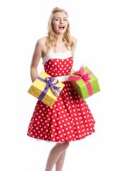 Freude über Geschenke