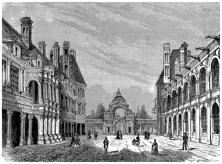 Castle : Fontainebleau - View 19th century