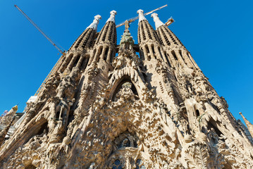 The Basilica of La Sagrada Familia. Barcelona.