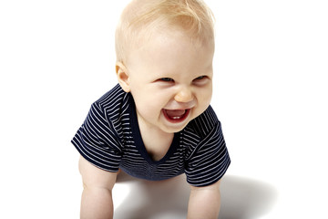 Cute Baby Laughing. First Tooth