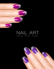 Holiday Nail Art. Luxury Nail Polish. Trend Nail Stickers