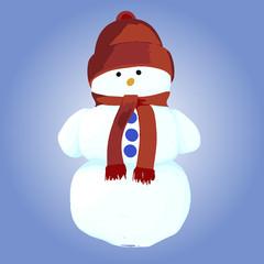 Snowman. Vector illustration.