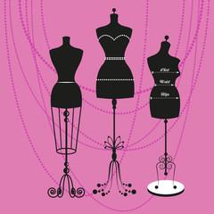 vector vintage tailor's mannequin