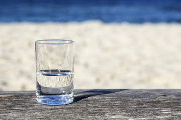 Glass of water which is half-full