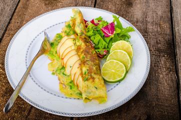 Vegetarian scallion omelette