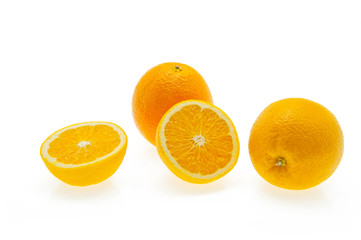Oranges on wihte background