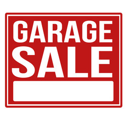 Garage sale red sign with copy space