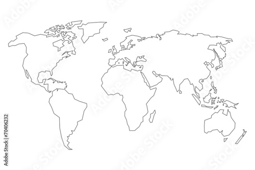 World map detailed contours line style stock image and royalty world map detailed contours line style gumiabroncs Images