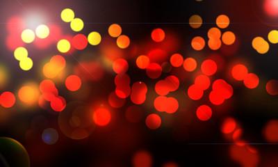 lumières abstraites de la nuit